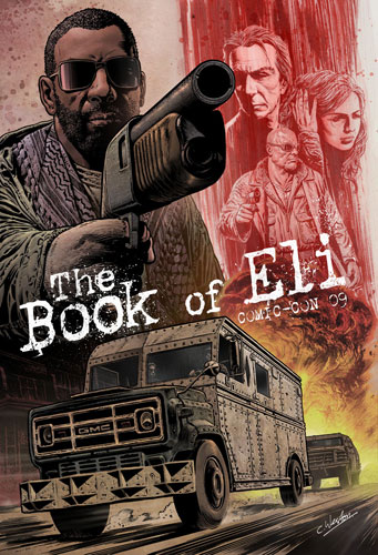 Póster de The Book of Eli para la Comic-Con 2009