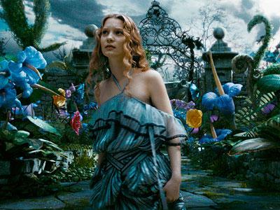 Mia Wasikowska en Alice in Wonderland