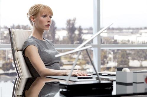 'Pepper' Potts (Gwyneth Paltrow) en lo que parece ser el mismo despacho que antes estaba Natasha Romanoff
