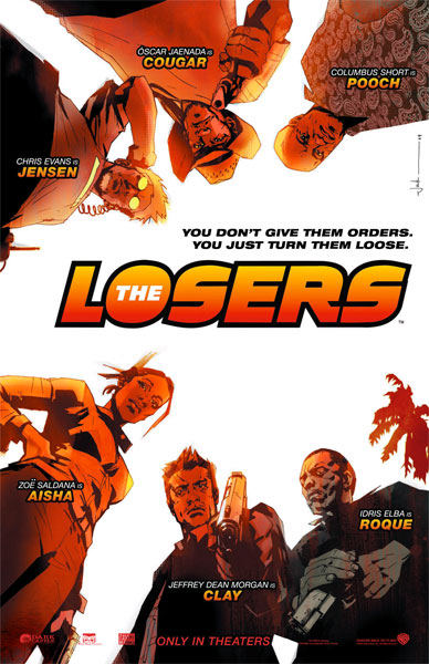 Póster de The Losers para la Comic-Con