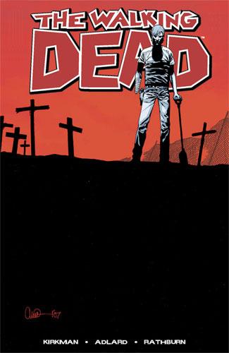 Portada de uno de los número de The Walking Dead / Los muertos vivientes