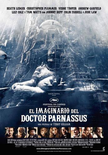 Póster español de El imaginario del Doctor Parnassus