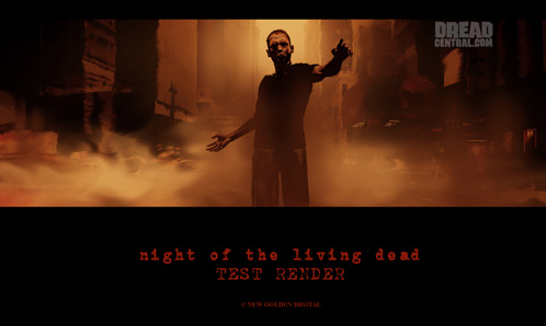 Test render para Night of the Living Dead: Origins