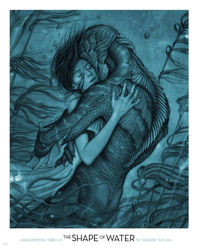 Precioso cartel de The Shape of Water